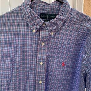 Ralph Lauren Classic Button Down Blue/Pink XXL